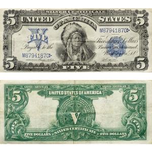 1899_$5_Silver_Certificate