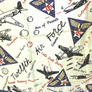 12th Airforce Silk Banner with WWII Bombers (1)