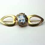 14kt Gold Arts and Crafts Era Topaz Brooch (2)