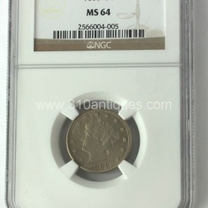 1888 5c Liberty Nickel NGC MS64 Obverse