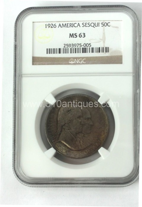 1926 Sesquicentential 50c NGC MS63 Obverse