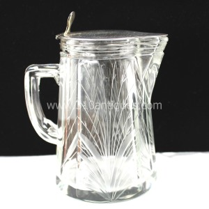American Sterling and Cut Glass Syrup Pitcher (4)