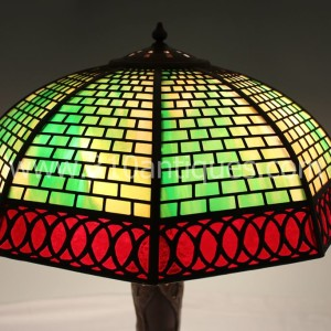 Antique Handel  Geometric Overlay Table Lamp (1)