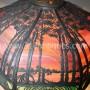 Antique Handel Tropical Scenic Overlay Lamp  (3)