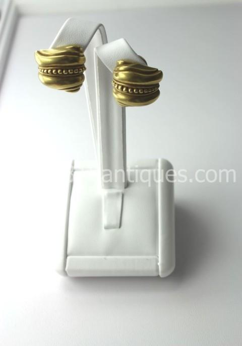Kieselstein Cord 18KT Gold Earrings (2)