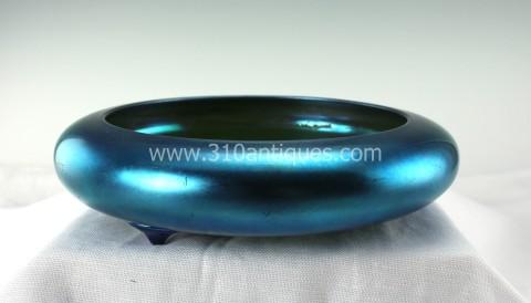 Steuben Blue Aurene Carder Bowl 2585 Shape (1)