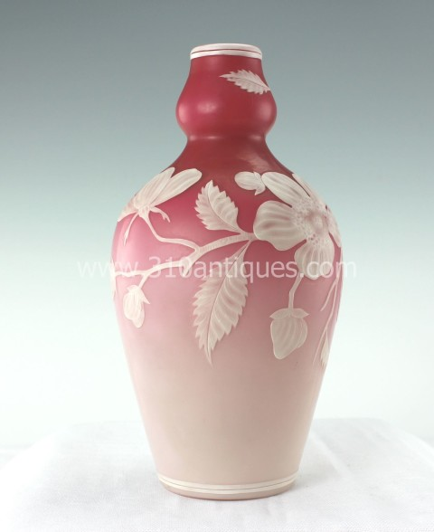 Stevens and Williams Cameo Glass Vase (2)