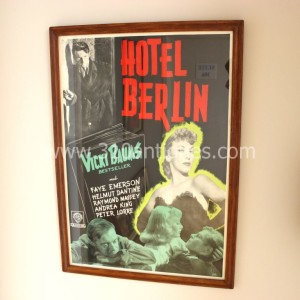 Vicki Baums Peter Lorre Hotel Berlin Film Noir Movie Poster