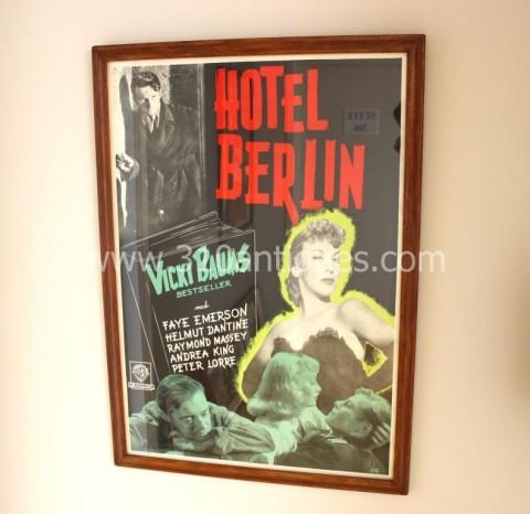 Vicki Baums Peter Lorre Hotel Berlin Film Noir Movie Poster