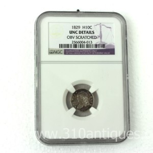 1829 Bust Half Dime NGC Unc Details Scratched (2)