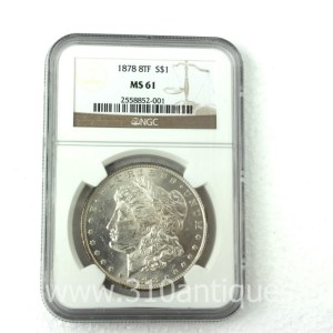 1878 8TF Eight Tail Feather Morgan Dollar NGC MS61 (1)