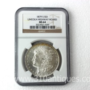 1879-S Morgan Dollar NGC MS64 Lincoln Highway Hoard (2)