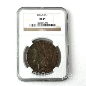1886-S Morgan Dollar NGC XF45 (2)