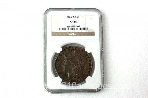 1886-S Morgan Dollar NGC XF45 (2)