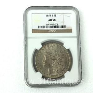 1898-S Morgan Dollar NGC AU58 (1)
