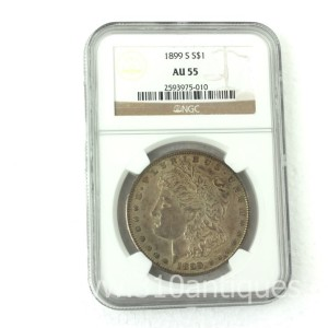 1899-S Morgan Dollar NGC AU55 (2)