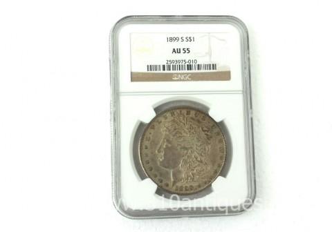 1899-S Morgan Dollar NGC AU55 (2)