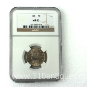 1901 Liberty Nickel NGC MS62 (2)