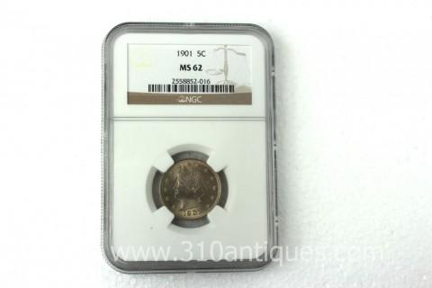 1901 Liberty Nickel NGC MS62 (2)
