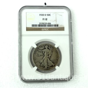 1920-D Walking Liberty Half Dollar NGC F12  (2)