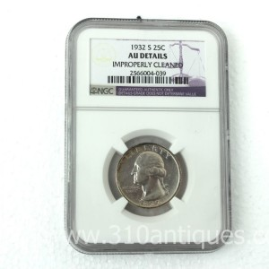 1932-S Washington Quarter NGC AU Details (2)