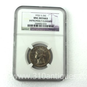 1932-S Washington Quarter NGC Unc Details (2)