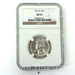 1937-D Washington Quarter NGC MS64 (2)
