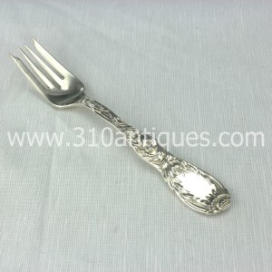Antique Tiffany & Co. Sterling Silver Salad Fork Chrysanthemum Pattern