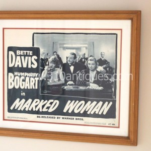 Bette Davis Humphrey Bogart Marked Woman Movie Poster Lobby Card (2)
