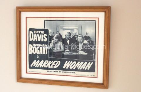 Bette Davis Humphrey Bogart Marked Woman Movie Poster Lobby Card (2)
