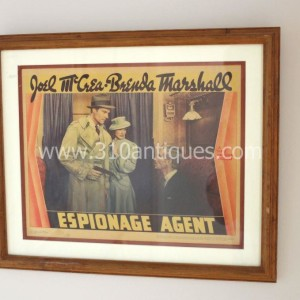 Film Noir Espionage Agent Movie poster Lobby Card (2)