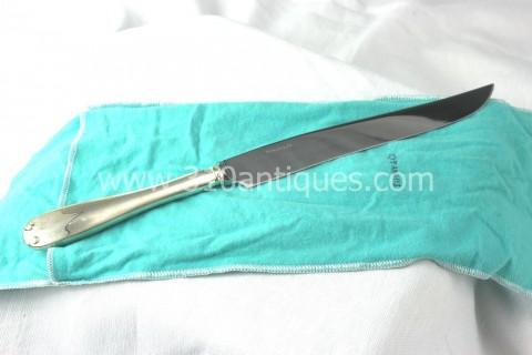 Tiffany & Co. Sterling Silver Flemish Pattern Roast Carving Knife (2)
