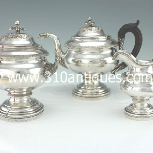 American Federal Coin Silver Tea Set Fletcher and Gardiner Philadelphia (2)