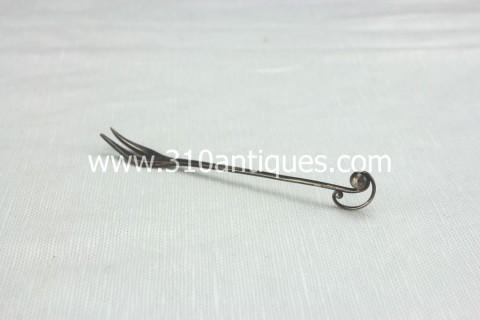 Georg Jensen Sterling Silver Condiment Fork (2)