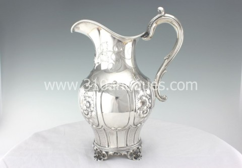 James Conning Mobile Alabama Coin Silver Water Pitcher (2)