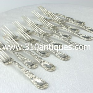 Set of 12 Tiffany & Co. Chrysanthemum Pattern Sterling Silver luncheon forks