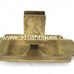 Tiffany Studios Chinese Pattern Match Holder Dirty Dore Bronze Finish 1764 (2)
