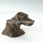 Tiffany Studios Shando Paperweight Retriever Bronze (2)