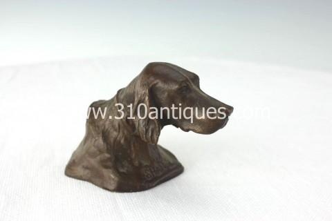Tiffany Studios Shando Paperweight Retriever Bronze (2)