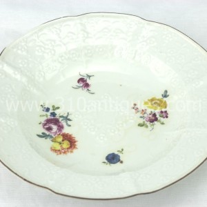 Meissen Molded Floral Soup Bowl 18th century 10 (2)