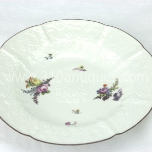 Meissen Molded Floral Soup Bowl 18th century 2 (2)