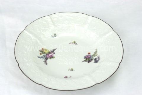 Meissen Molded Floral Soup Bowl 18th century 2 (2)