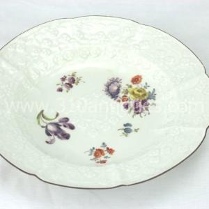 Meissen Molded Floral Soup Bowl 18th century 3 (2)