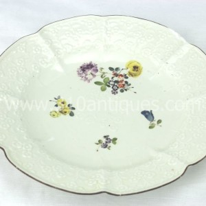 Meissen Molded Floral Soup Bowl 18th century 5 (2)