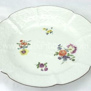Meissen Molded Floral Soup Bowl 18th century 7 (2)