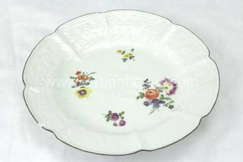 Meissen Molded Floral Soup Bowl 18th century 7 (2)