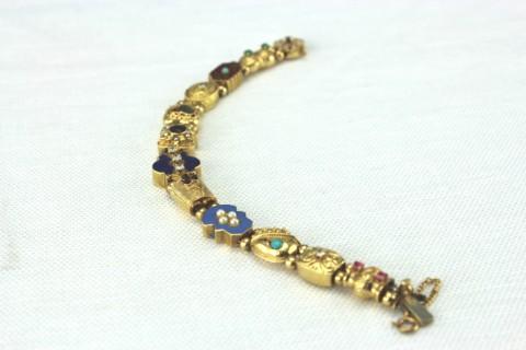 Victorian style 14kt slide bracelet (1)