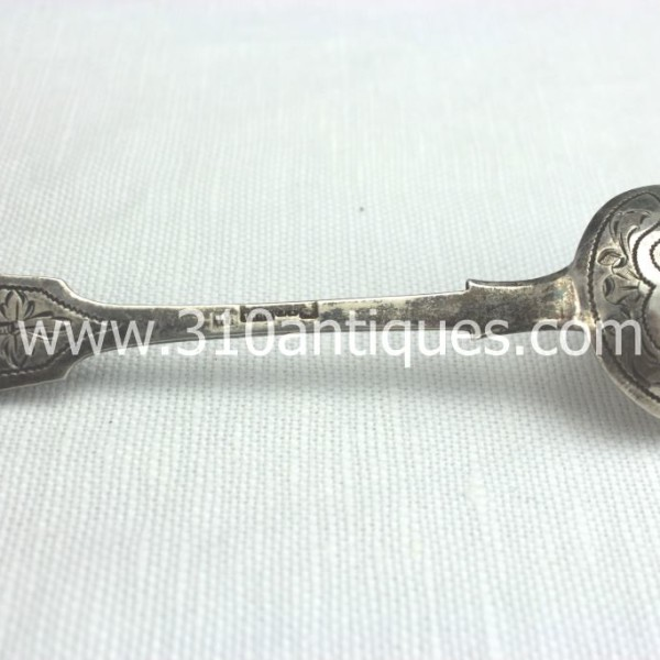 Imperial Russian Sterling Silver Spoon With Elaborate Engraving